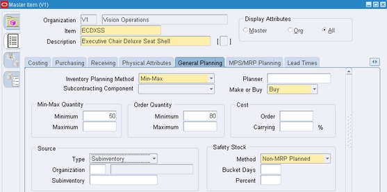 Min Max Planning And Move Orders In Oracle Inventory R12
